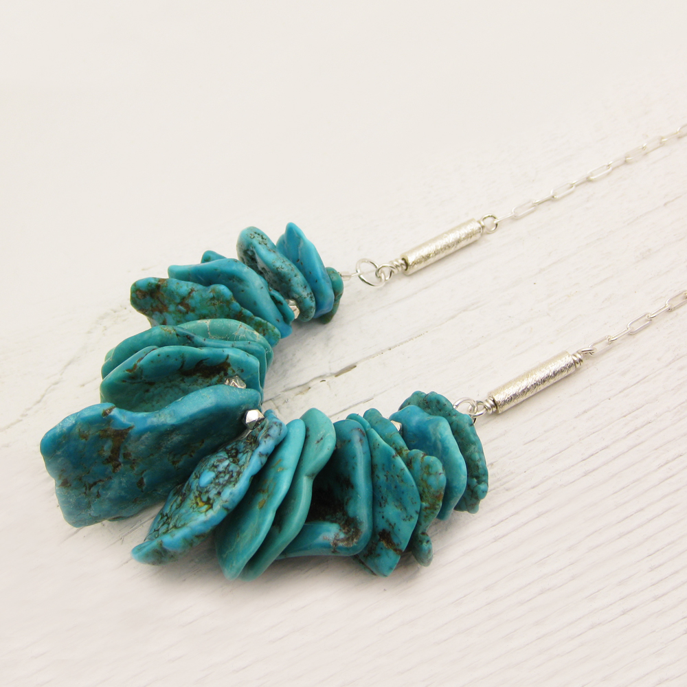 Sonora Nacozari Turquoise Necklace in Sterling Silver