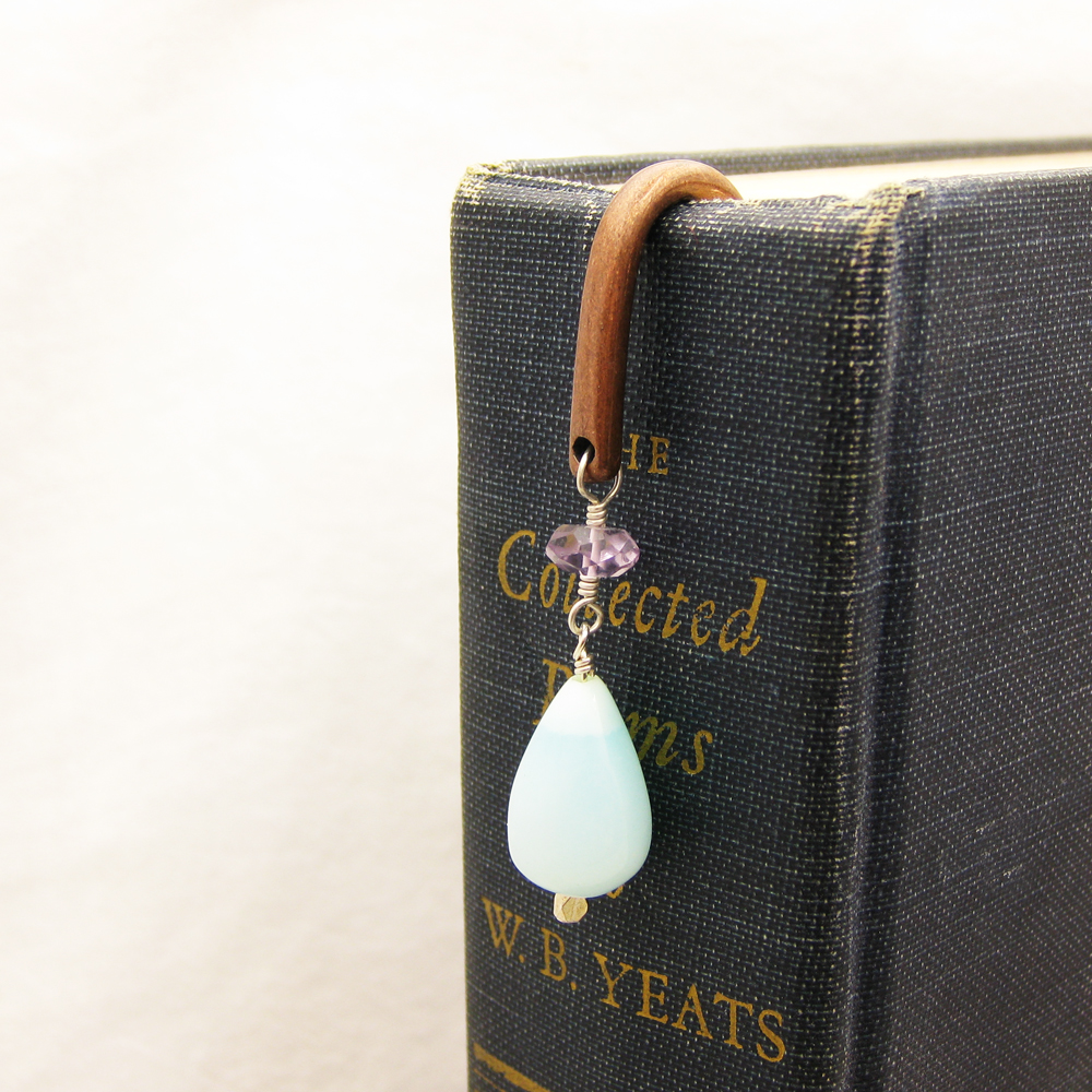 Gemstone Copper Bookmark