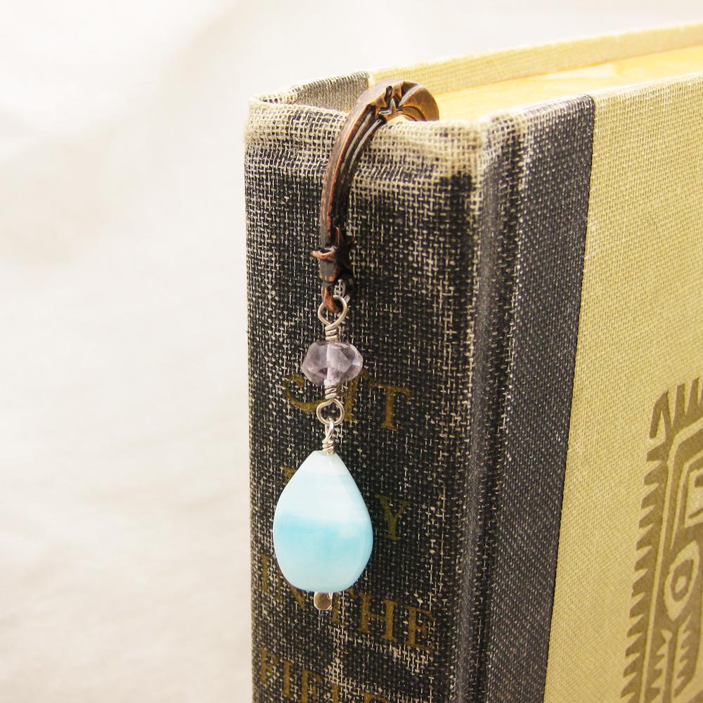 Gemstone Copper Bookmark