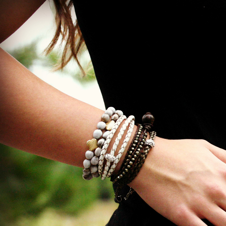 Gold Clover African Imfibinga Bracelet