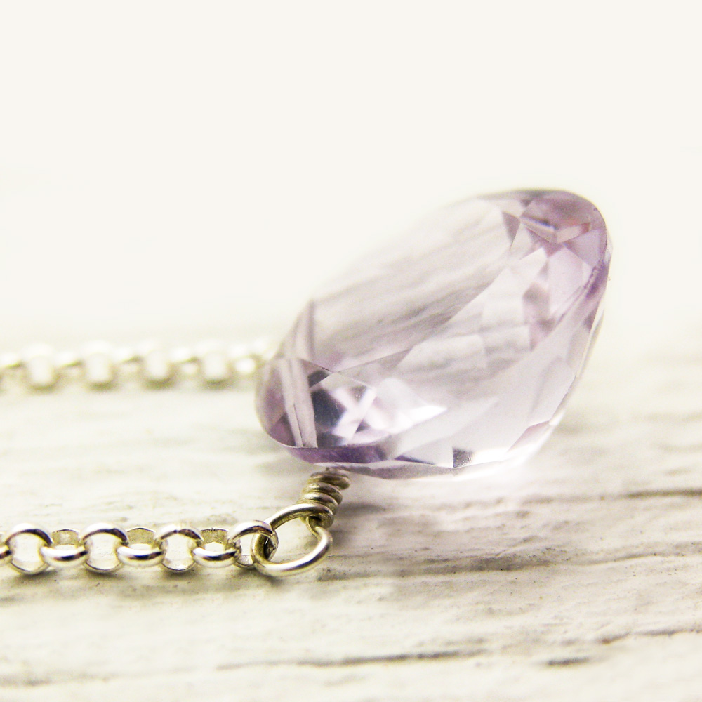 Rose De France Amethyst Necklace ~ as  Seen in LUCKYmag.com
