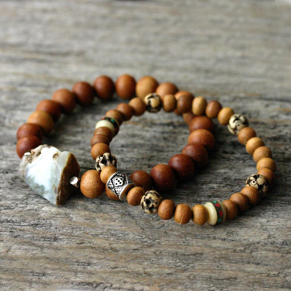 Nepal Bone Sandalwood Bohemian Bracelet