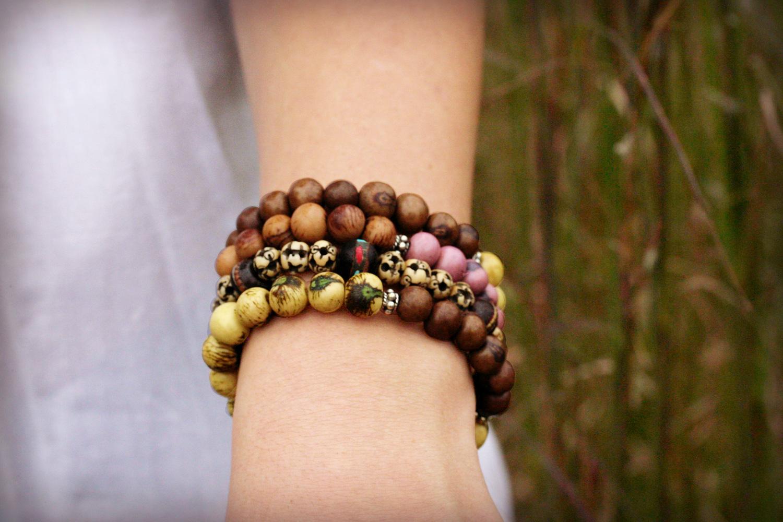 Unisex Boho Tribal Bone Beadwork Bracelet