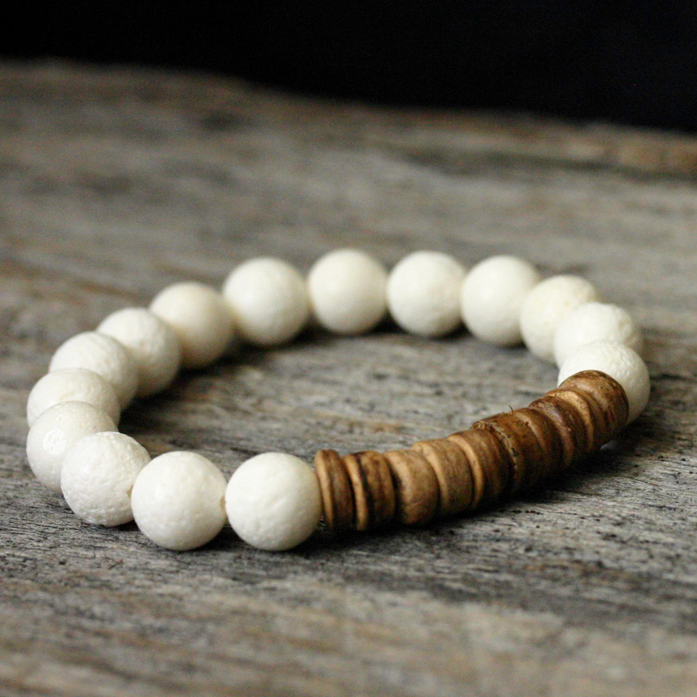 Coral Coconut Stacking Bracelet