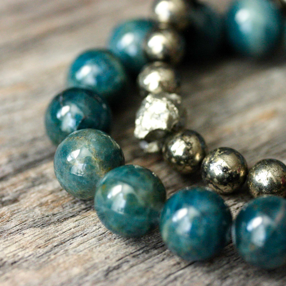 Ruby Apatite Statement Bracelet