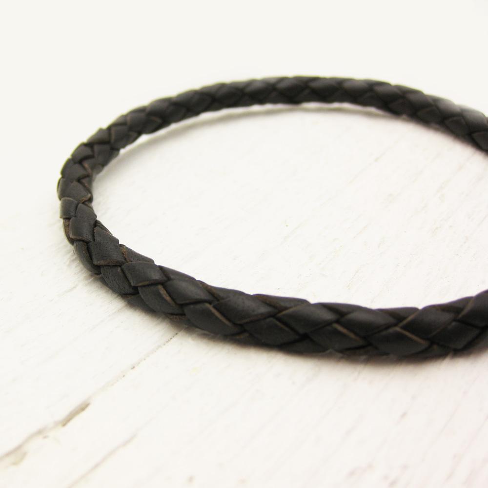 Antique Brown Leather Bolo Bracelet