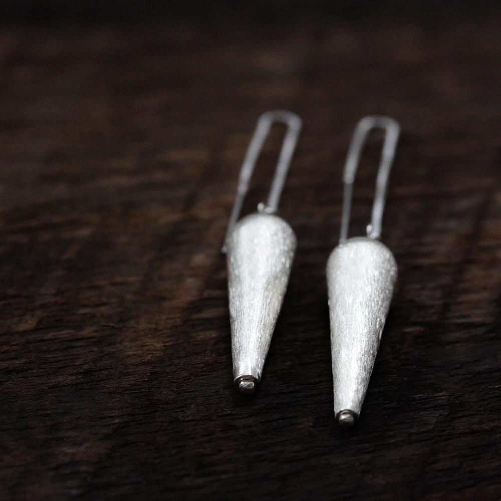 Sterling Silver Spike Drop Earrings
