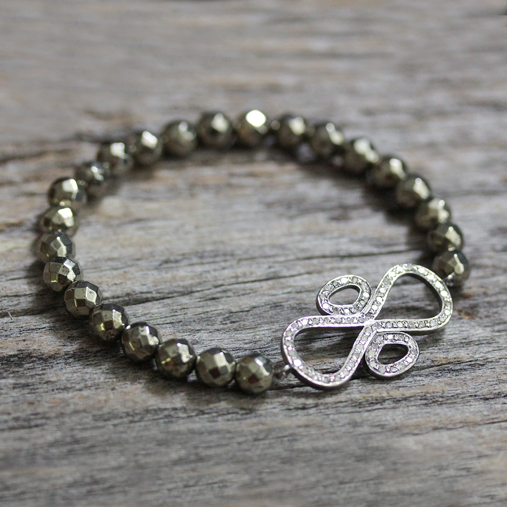 Diamond Pyrite Bracelet