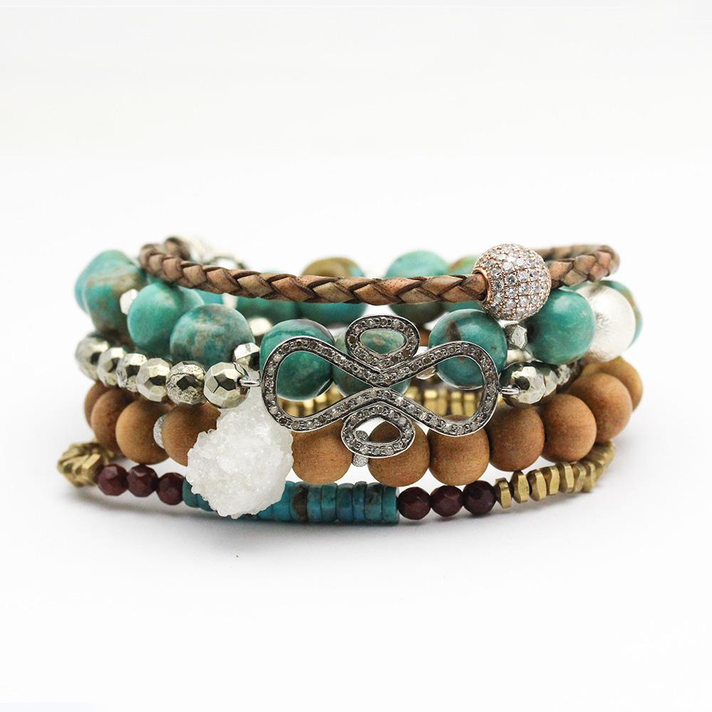 Diamond Pyrite Bracelet