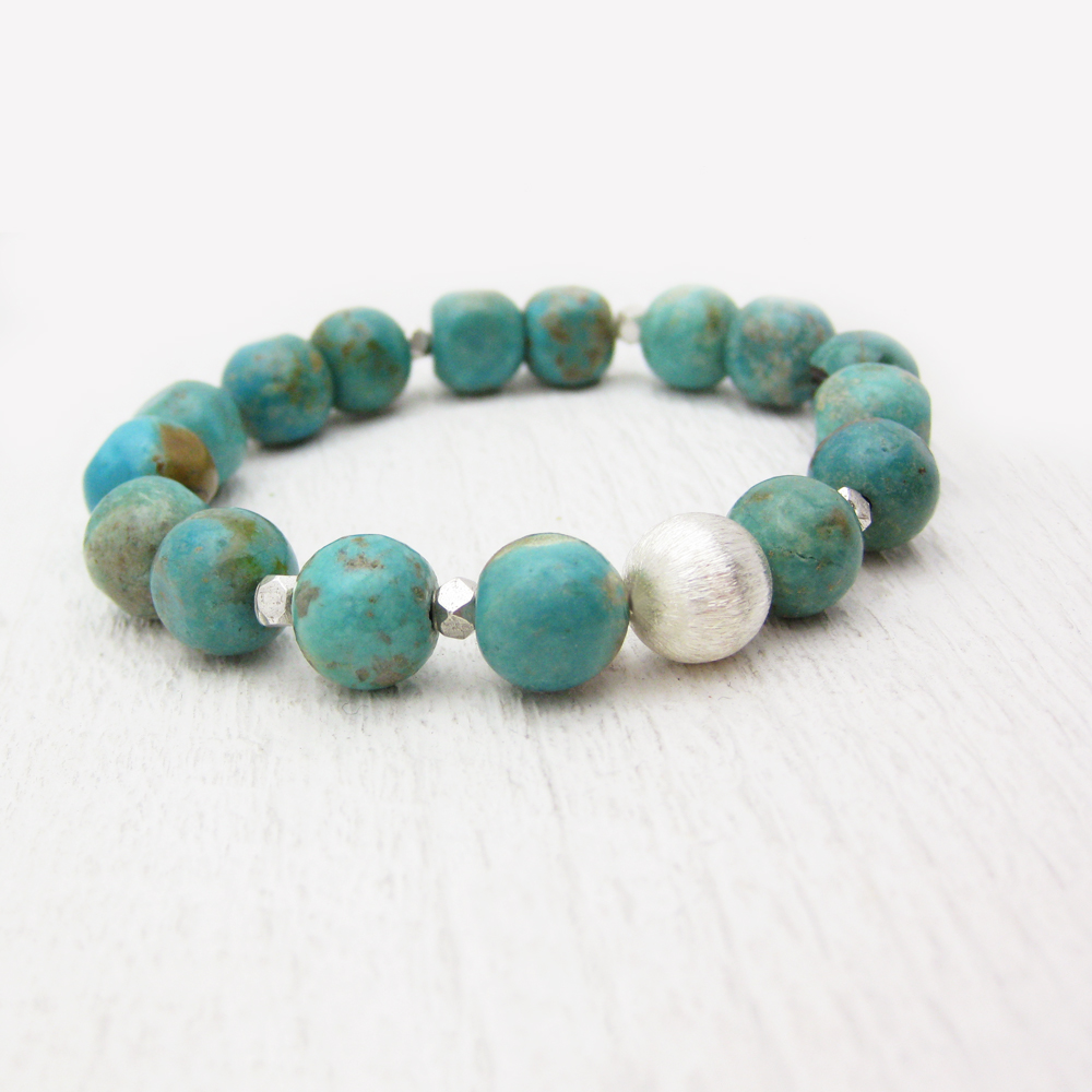 Turquoise Nuggets Statement Bracelet
