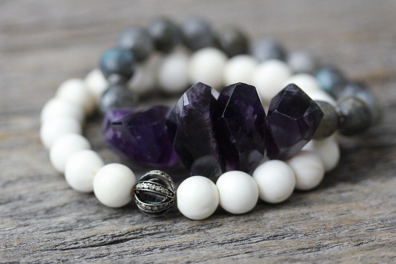 Conch Shell Diamond Pave Purity Bracelet