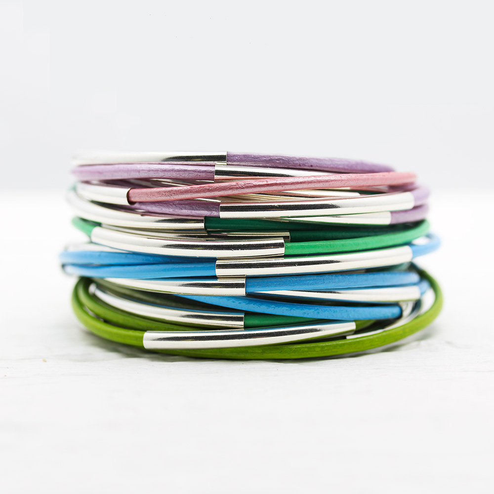 Eco Friendly Leather Bangle Wrap Bracelets