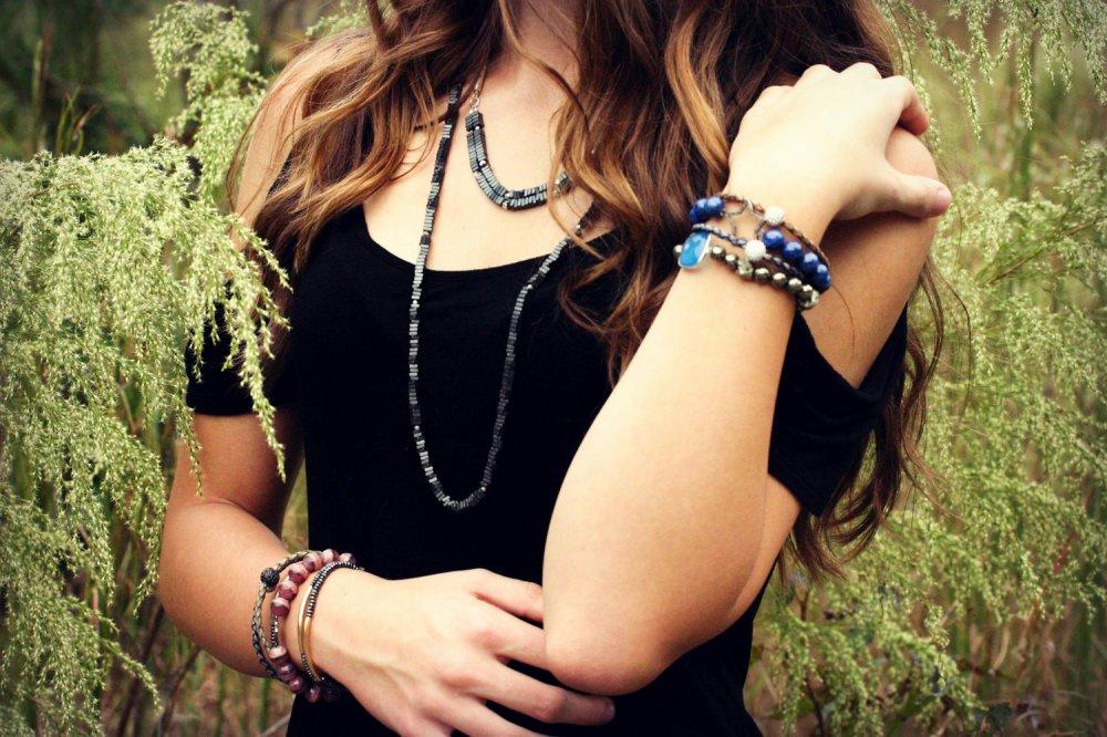 Diamond Star Lapis Lazuli Bracelet