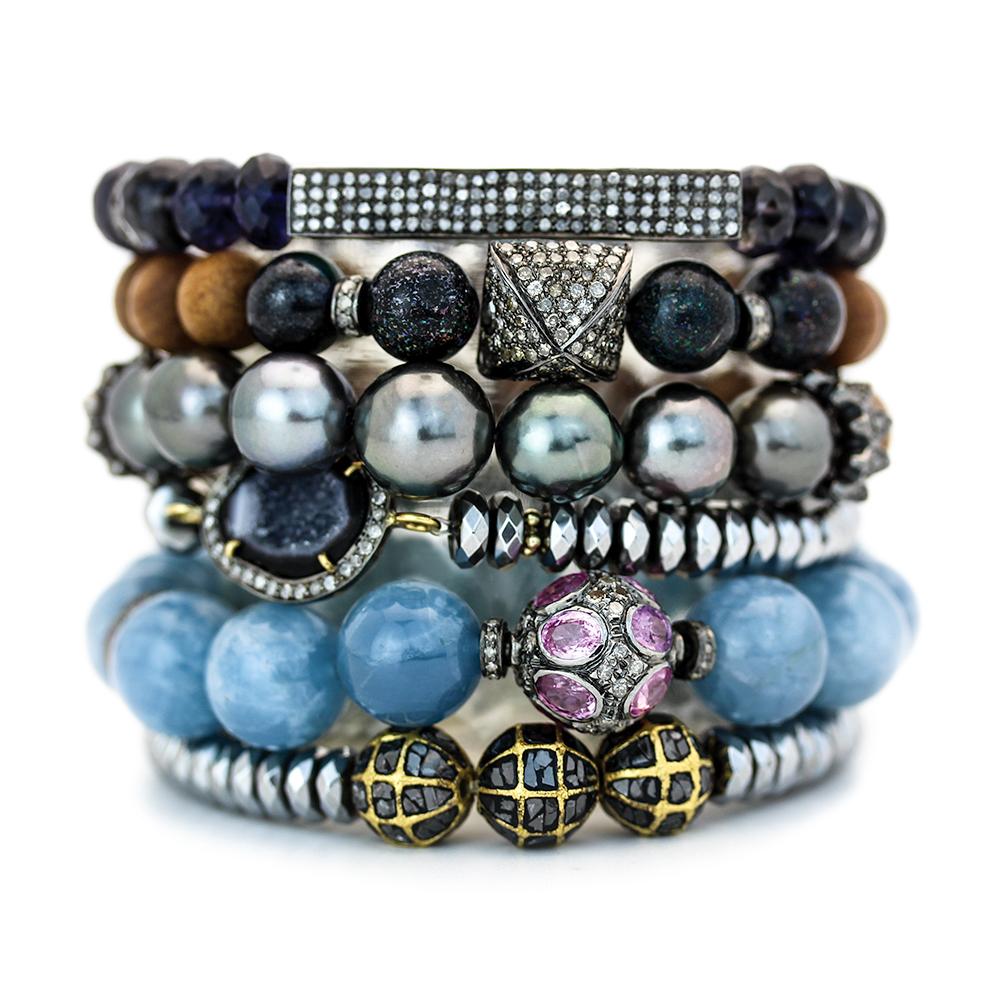 Opal Diamond Square Boho Bracelet