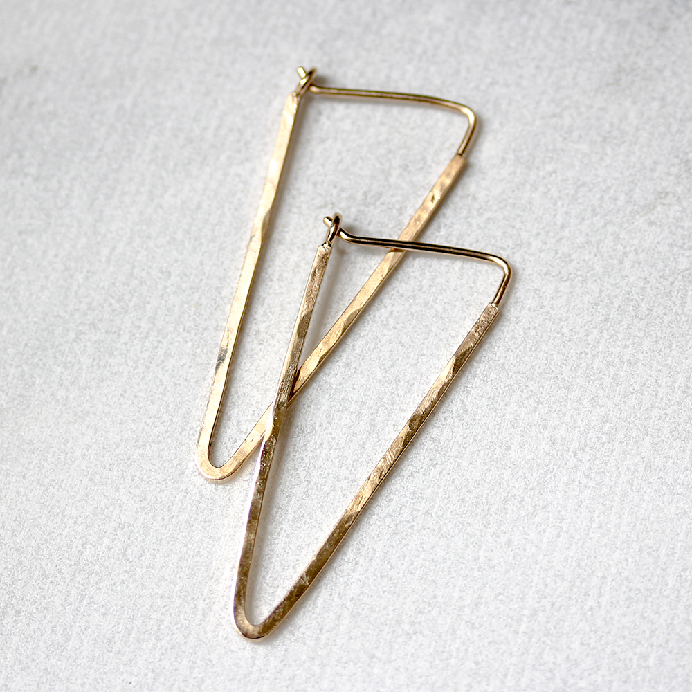 Triangle Spike Hoop Earrings