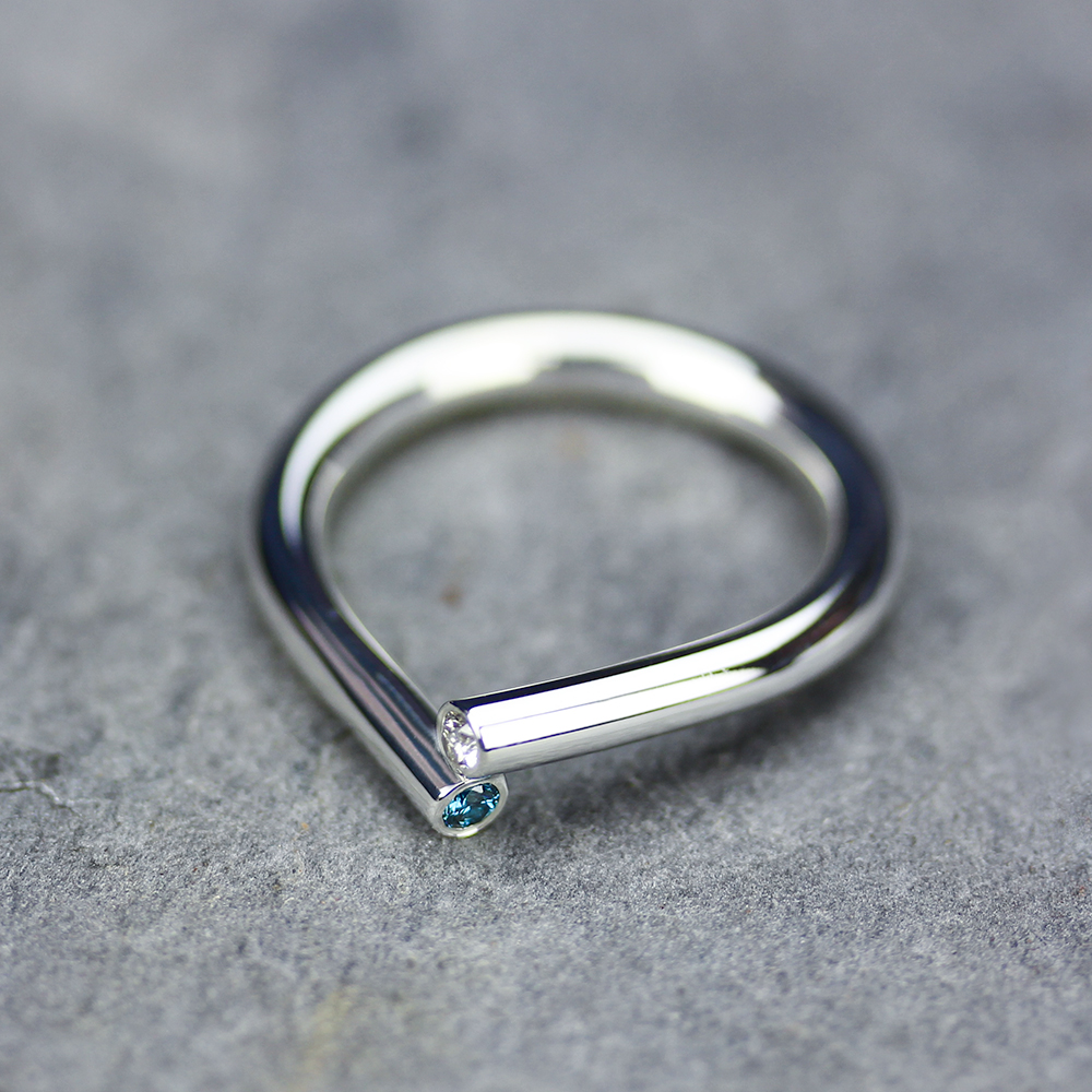 Diamond Raindrop Ring