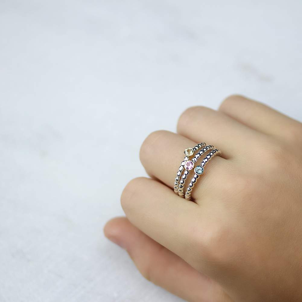 Tourmaline Stacking Rings